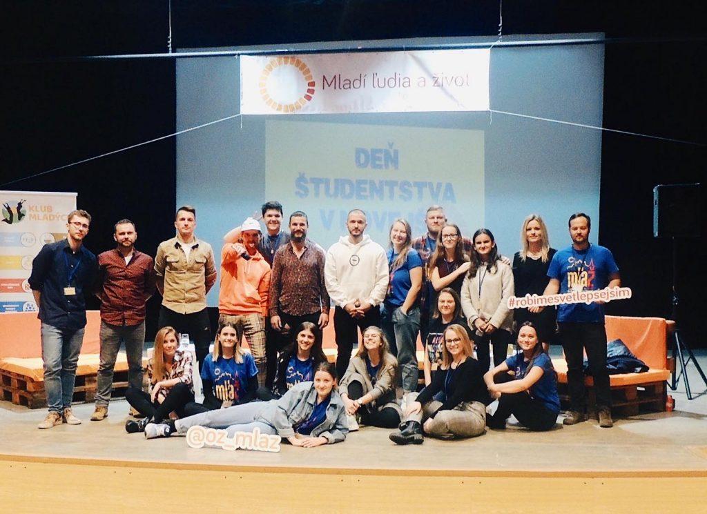Organizačný tím Dňa študentstva 2019, ktorý bol plný workshopov a prednášok.