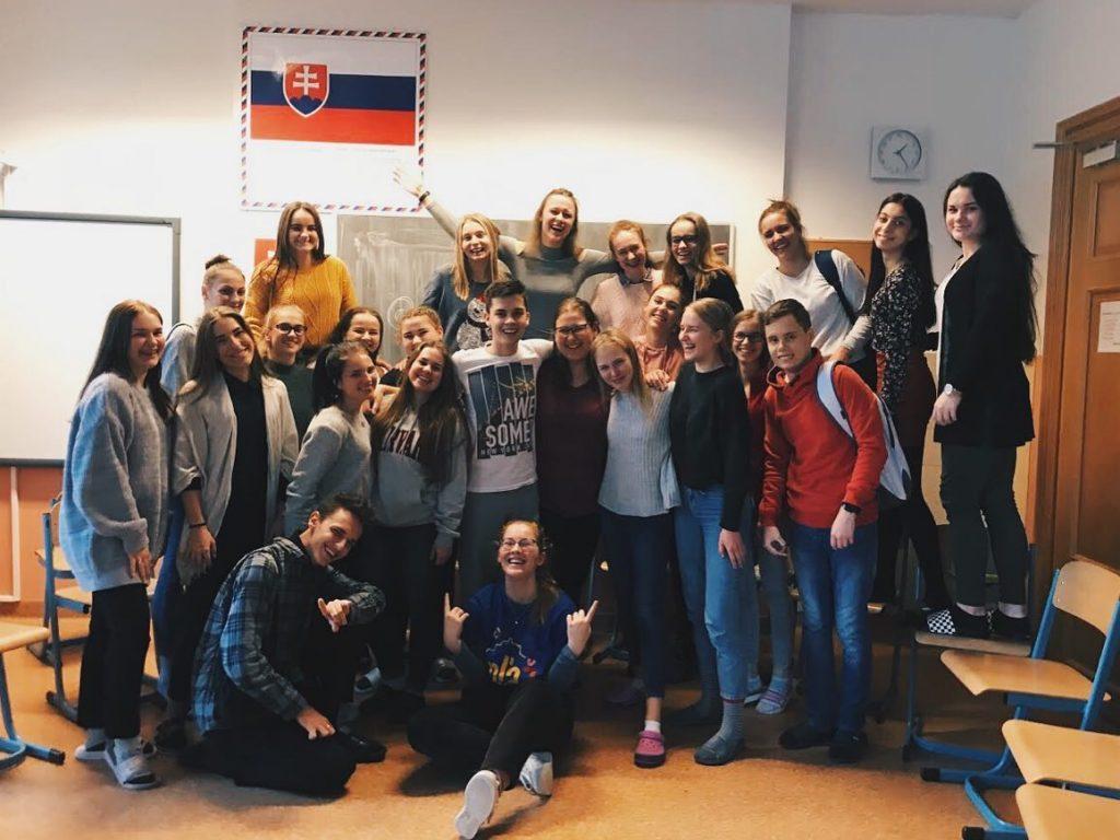 Po besede s témou HIV a AIDS na Strednej odbornej škole pedagogickej v Levoči.