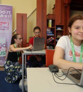 tabor kodovania pre dievcata