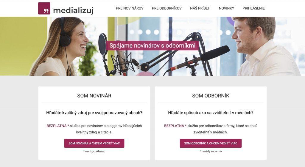Web projektu Medializuj