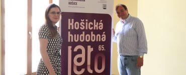 Riaditeľka Štátnej Filharmónie Košice Lucia Potokárová a dirigent Leoš Svárovský
