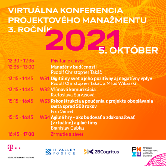 Virtuálna PM Konferencia - program